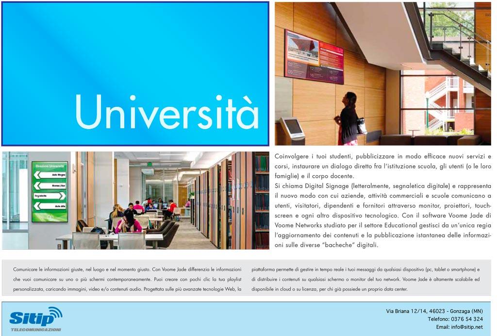 Digital Signage per le Università   SITIP TELECOMUNICAZIONI