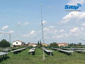 Impianto fotovoltaico collegato a internet in aree rurali a Moglia, Mantova
