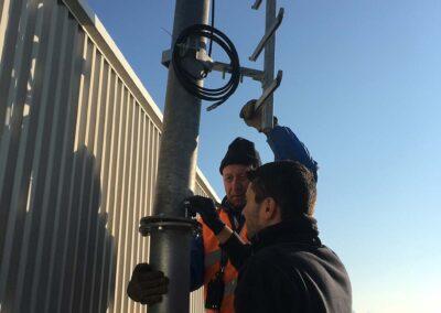 Installazione Sistema di Sostegno per Antenna Ponte Radio | SITIP TELECOMUNICAZIONI