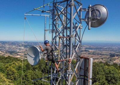 Montaggio Antenne a Parabola Ponti Radio   SITIP TELECOMUNICAZIONI